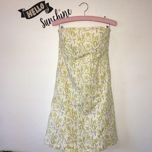 GAP | Strapless Summer Dress Yellow Floral 8